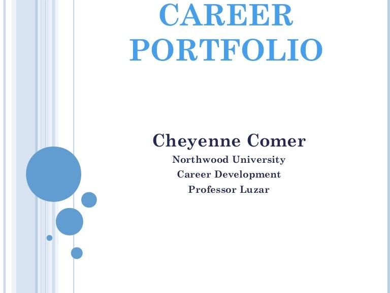 Cheyenne Comer's Career portfolio