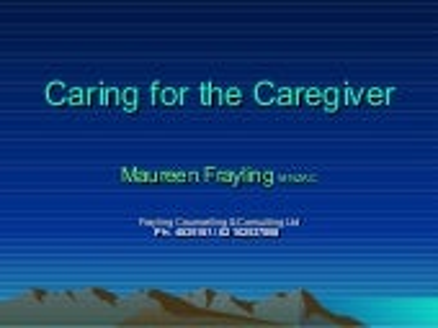 Caregiver (3)
