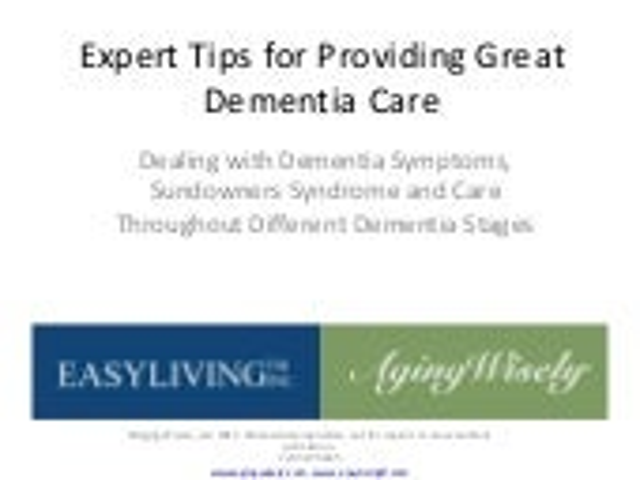 Caregiver tips for dementia