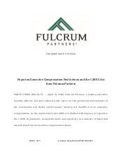 Report on Executive Compensation Restrictions and the CARES Act from Fulcrum Partners