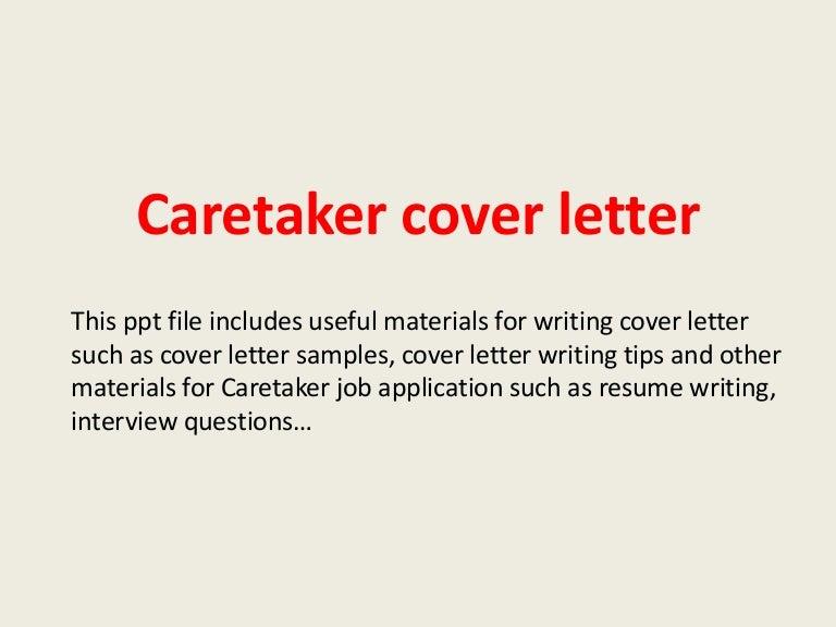 Caretakercoverletter 140305101401 Phpapp01 Thumbnail 4?cbu003d1394014699