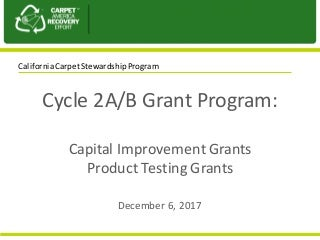 CARE CA Program Cycle 2AB Grant Program Introduction