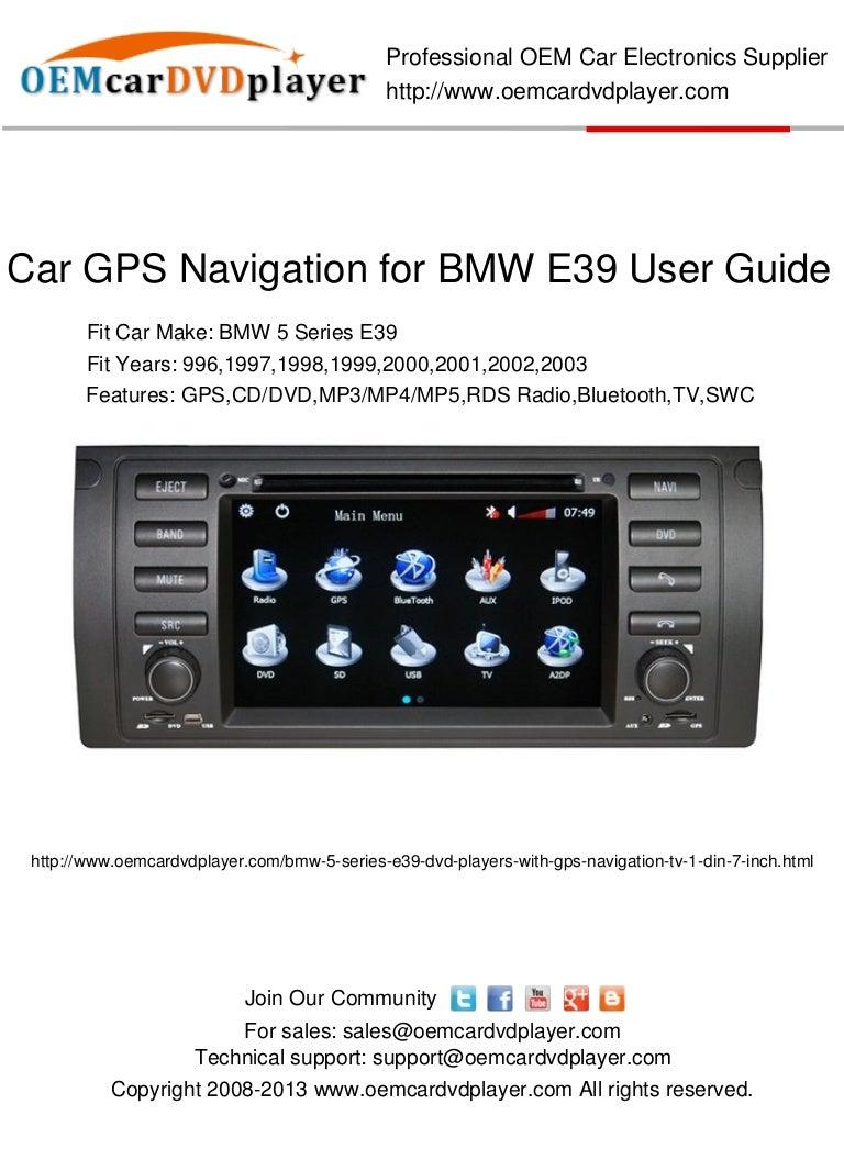 car gps navigation for bmw e39 user guide. Black Bedroom Furniture Sets. Home Design Ideas