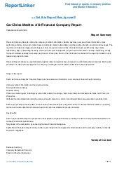 Carl Zeiss Meditec AG-Financial Company Report