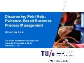 Discovering Petri Nets: Evidence-Based Business Process Management