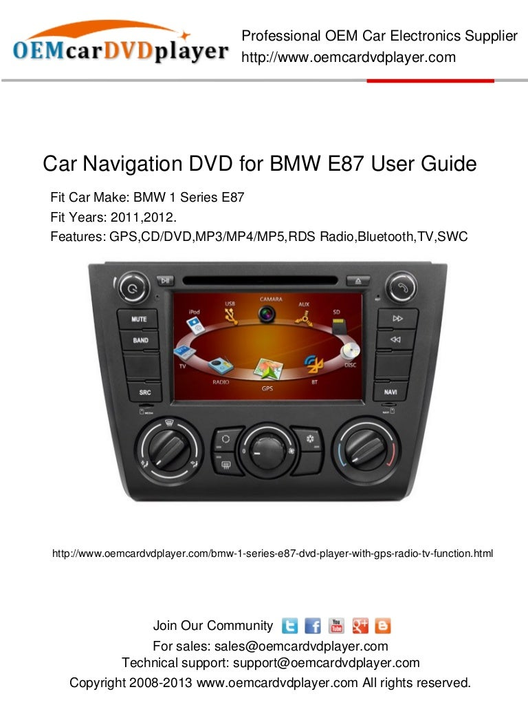 car navigation dvd player fro bmw e87 user guide. Black Bedroom Furniture Sets. Home Design Ideas
