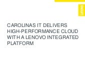 Carolinas IT achieves 320% more processing power with Lenovo servers