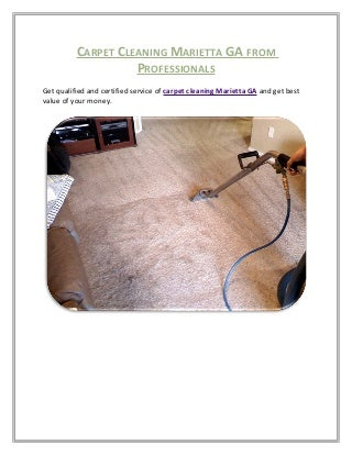 Carpet Cleaning Marietta Ga From Professionals