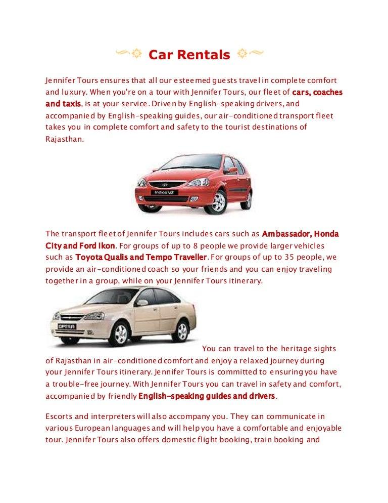 Car Rentals in jaipur
