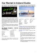 Car rental ireland guide