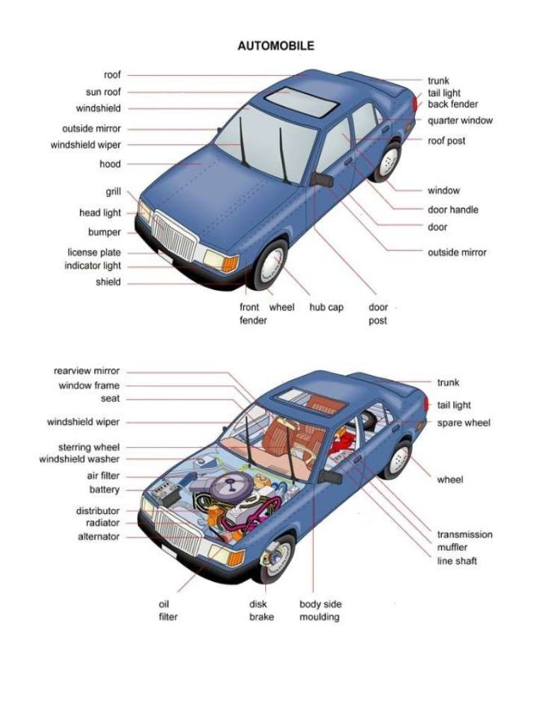 Car Parts In English Dictionary