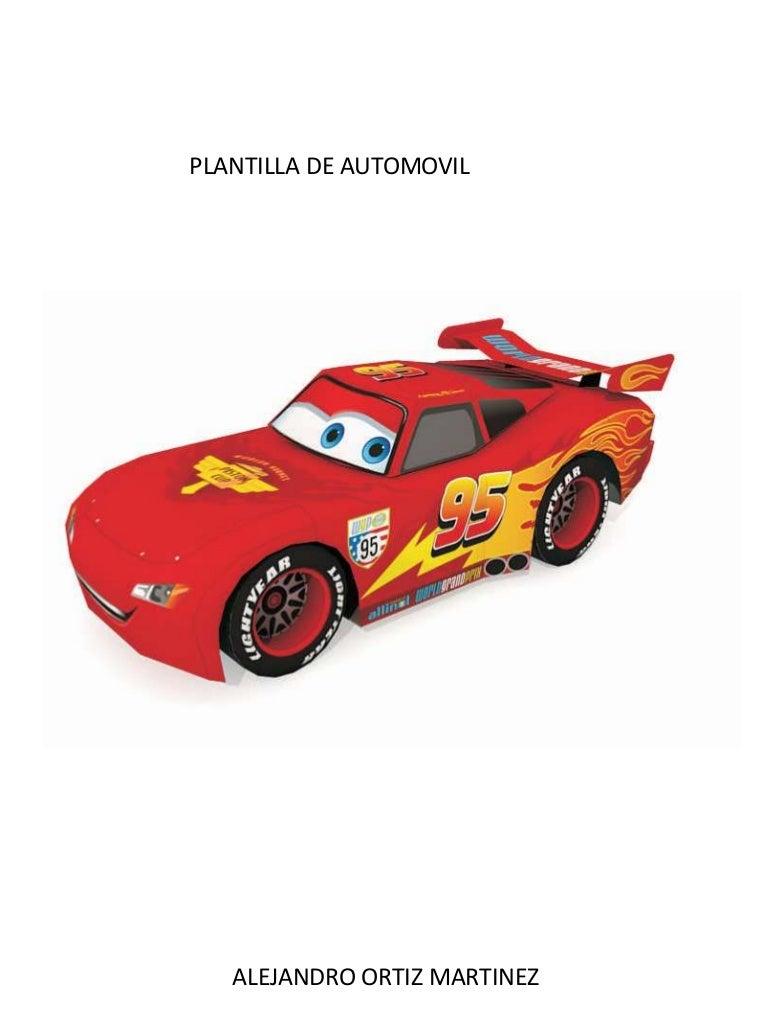PLANTILLA DE AUTOMOVIL PARA RECORTAR Cars