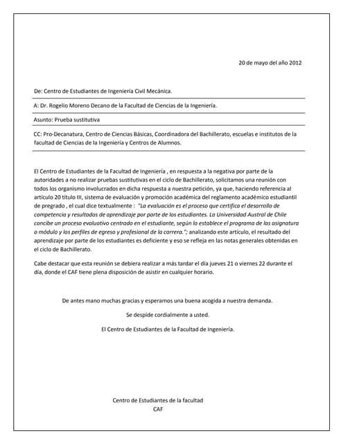 Carta decano