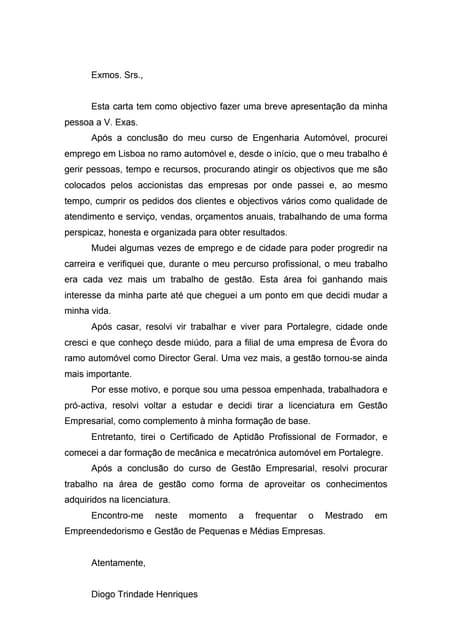 Carta De Motivação Patrícia Cozer