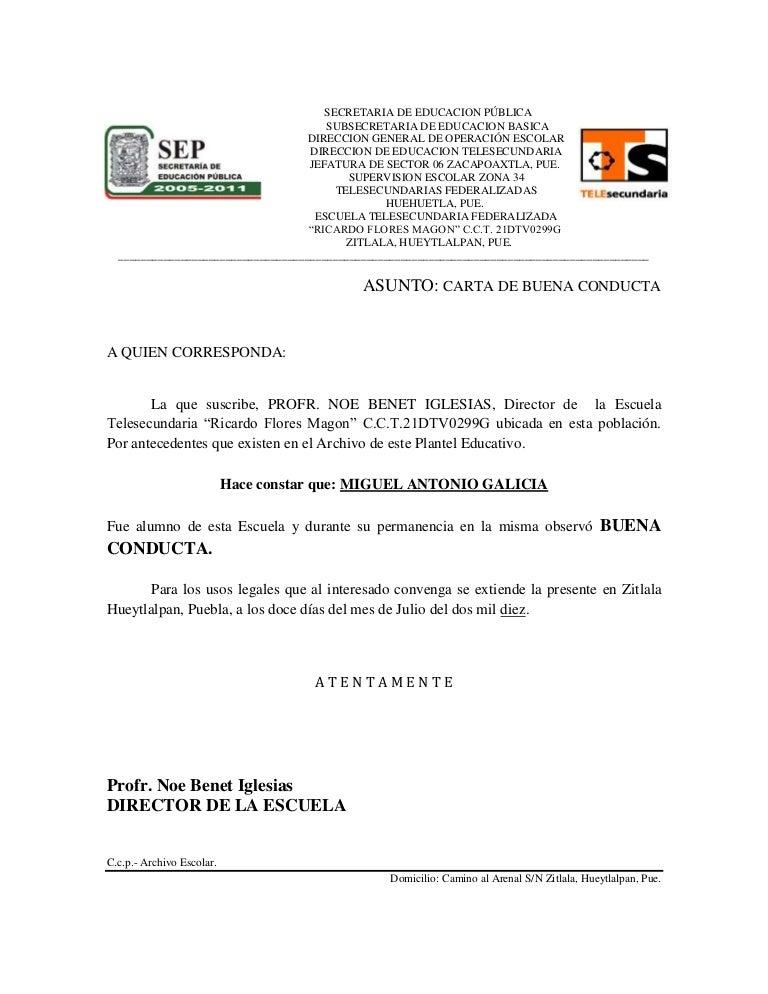 Image Of Ejemplo De Carta De Recomendacion Laboral Mexico Carta de
