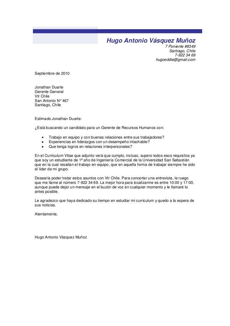 Lujoso Carta De Presentación Para La Presentación Del Currículum ...