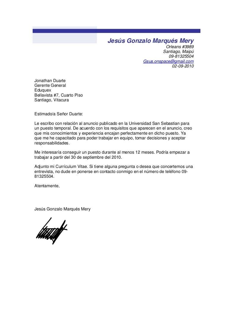 Encantador Carta De Presentación Del Curriculum Vitae Rellenable ...