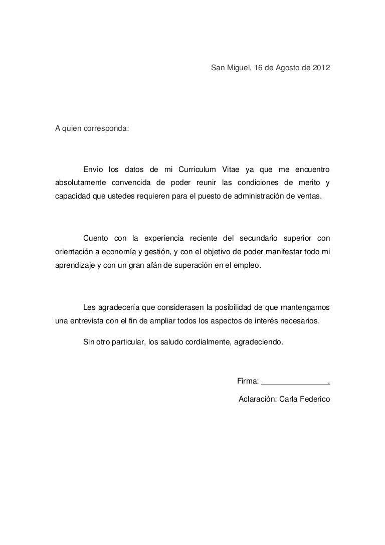 Carta de presentacion c