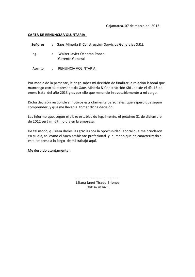 modelo de carta de renuncia espana carta renuncia a asociación