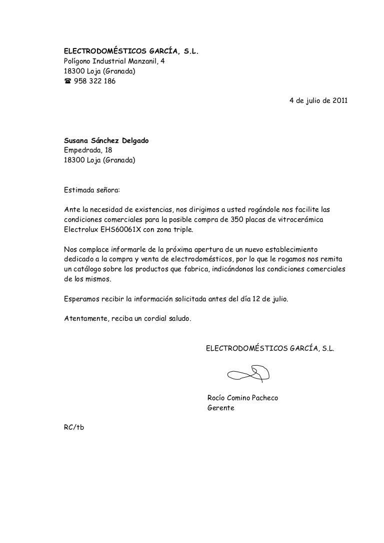 Plantilla Para Redactar Carta Comercial Ejemplo de carta comercial ...