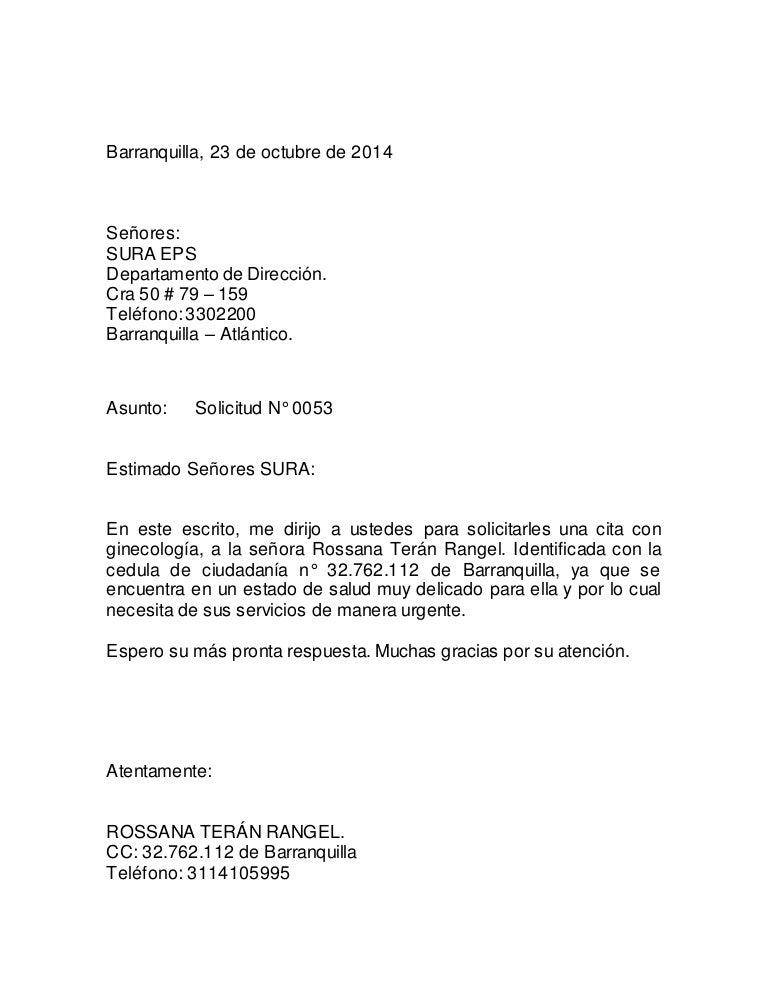 Carta de solicitud for Solicitud de chequera