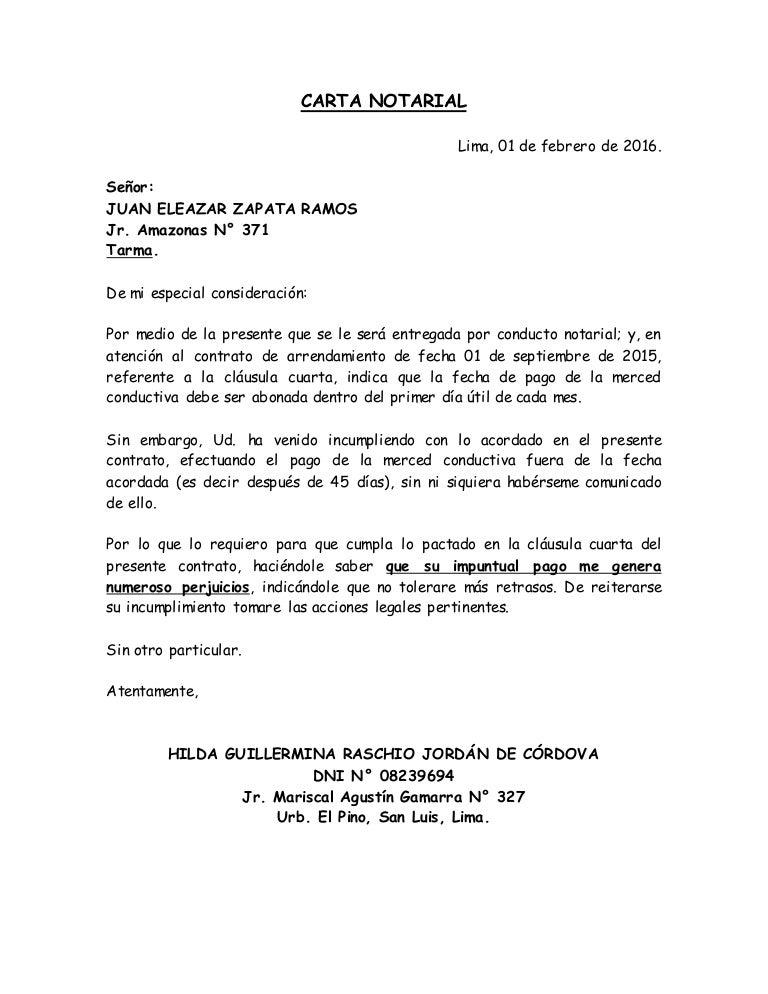 Modelo De Carta Para Desalojo De Vivienda Recipes Site G