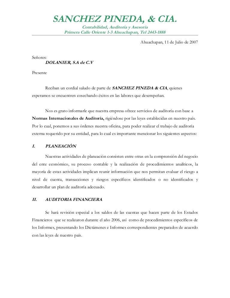 carta para ofrecer servicios de laboratorio clinico