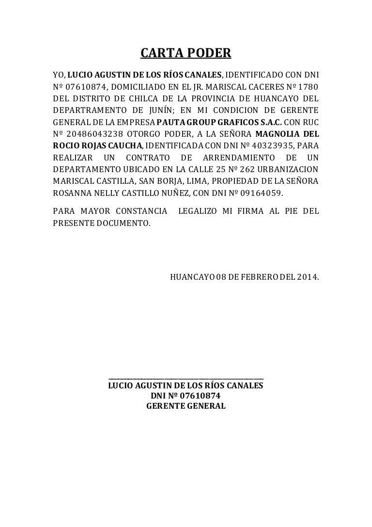 Ejemplo de carta poder - Tramites legales para alquilar un piso ...