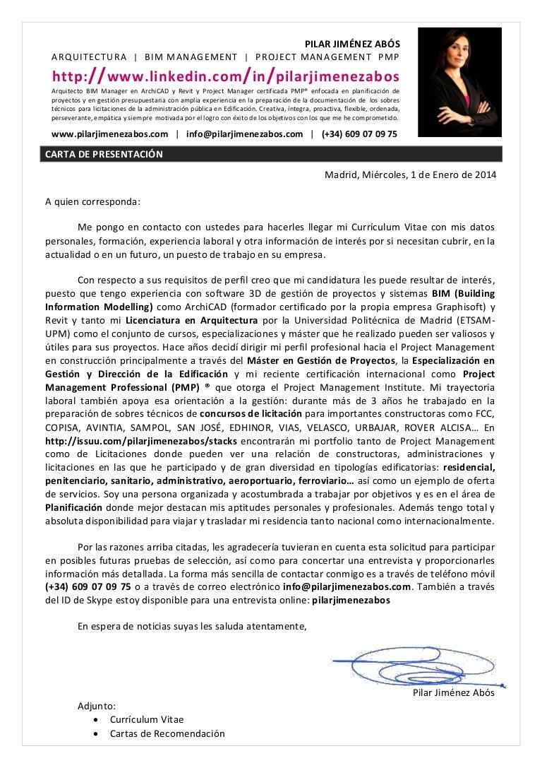 Carta presentacion