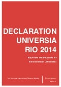 Declaration Universia Rio 2014