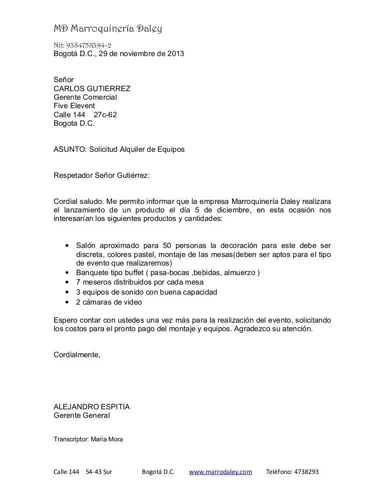 Carta solicitud for Oficina correos tres cantos