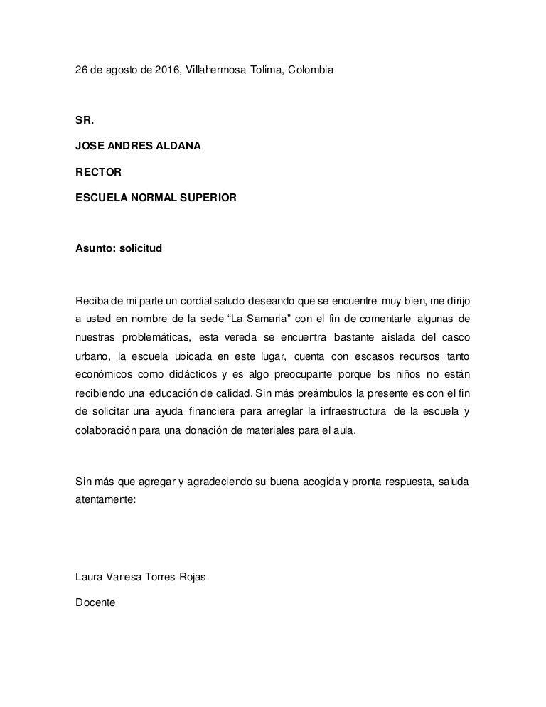 carta solicitud