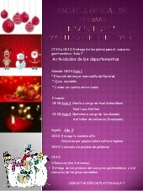 Cartel promocional fiesta navidad