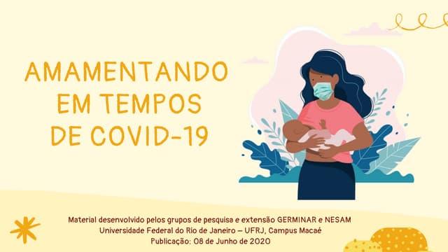 Cartilha sobre Aleitamento & Covid - UFRJ Macaé