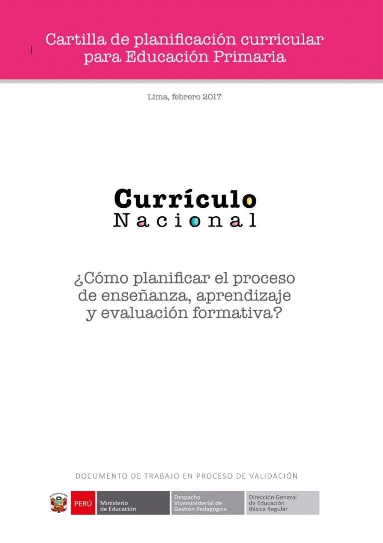 Cartilla Planificación Curricular 2017 MINEDU.