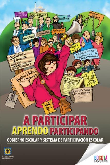 Cartilla gobierno escolar y participacion 2013