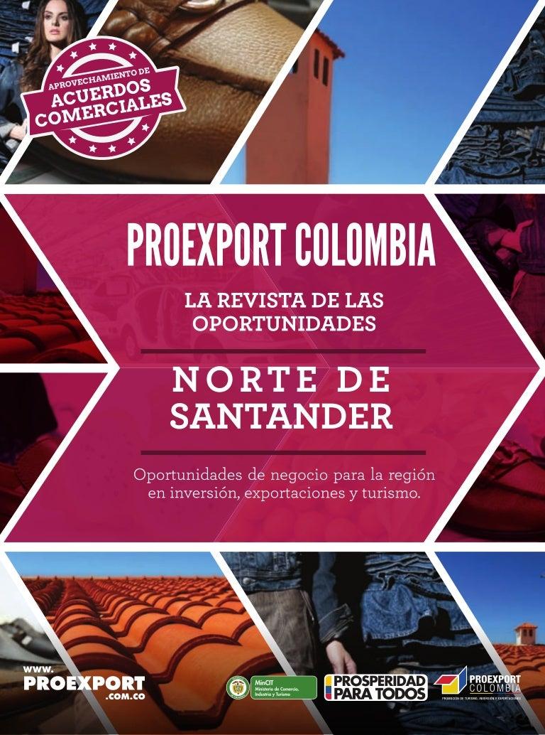 revista de oportunidades Norte de Santander