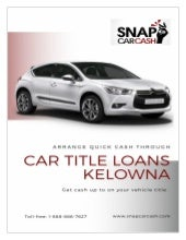 Car Title Loans Kelowna for Fast And Instant Cash