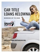 Car Title Loans Kelowna a hassle-free way to get instant cash