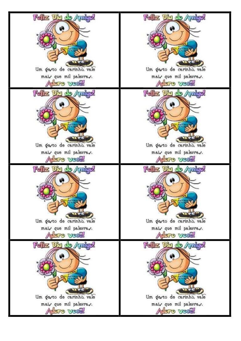 Cartao Dia Do Amigo