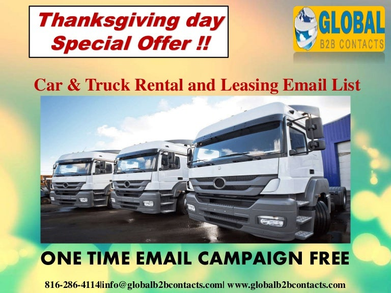 Car Amp Truck Rental And Leasing Email Data