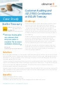 Case Study - Customer Auditing and ISO 27001 Certification at BELLIN Treasury