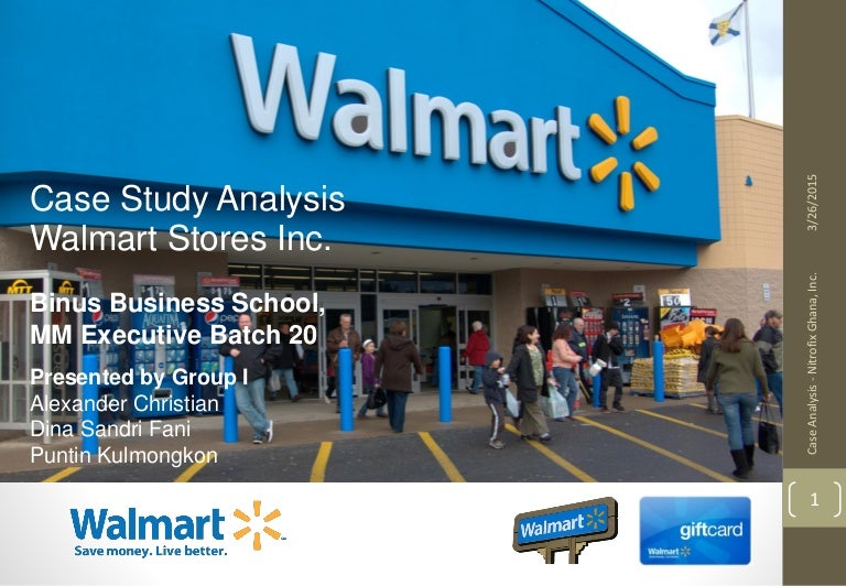 walmart case study analysis Wal-mart case analysis paper tiffin university management of human resources mgt 522 g the primary responsibilities associated with human resource management include: job analysis and in the case study, mark discussed the ten foot rule which stated that associates should greet customers.