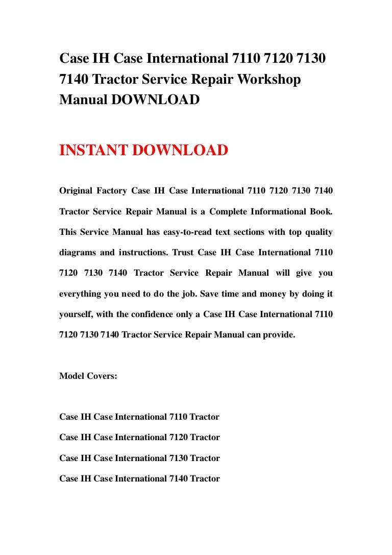 IT Shop Case-IH 7140 Tractor Service Manual Patio, Lawn & Garden ...