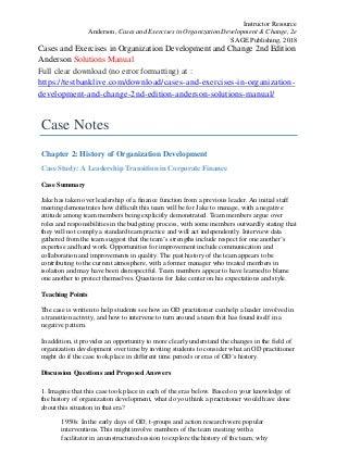 Organizational change and development book pdf