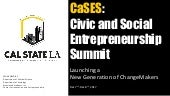 CaSES Introduction: Civic and Social Entrepreneurship Summit