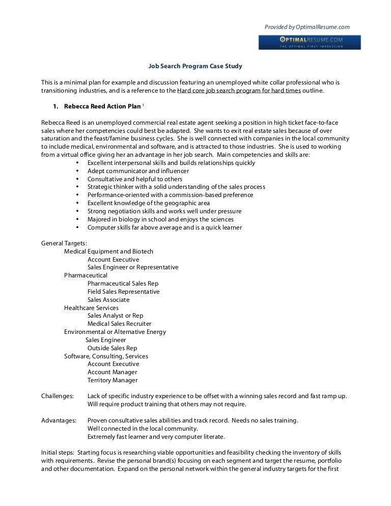 job search action plan