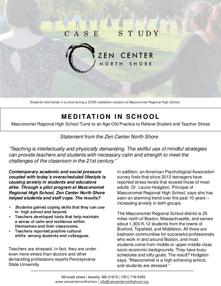 Case Study - Meditation in School