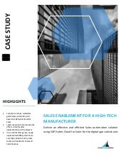 Sales Enablement for a High-tech Manufacturer