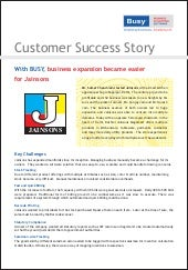 With BUSY, business expansion became easier for Jainsons